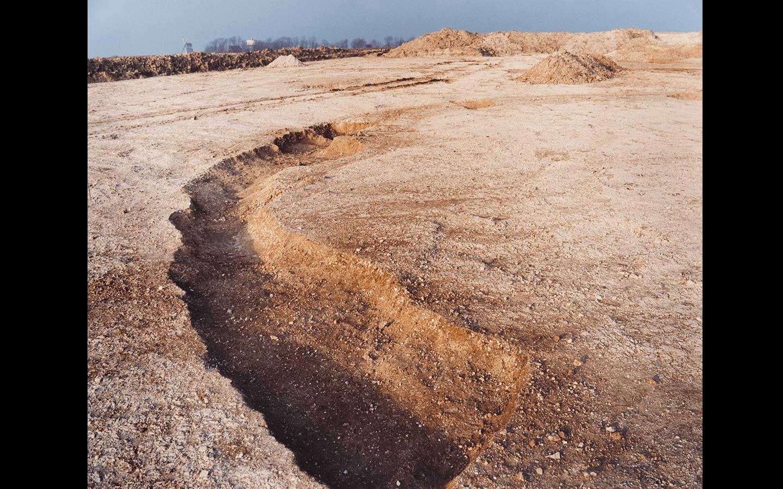 «Chantier du Lien Fixe Transmanche, terminal, février-mars 1988», Site archéologique au nord du vieux Coquelles, Coquelles