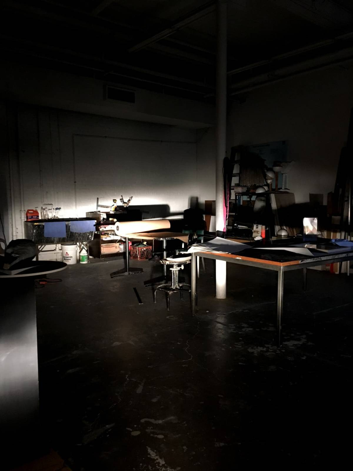 Studio at Night, fall 2018